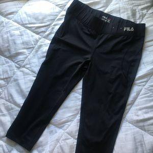 Black Fila Workout Capris